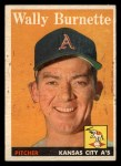 1958 Topps #69  Wally Burnette  Front Thumbnail