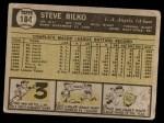 1961 Topps #184  Steve Bilko  Back Thumbnail