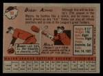 1958 Topps #99  Bobby Adams  Back Thumbnail