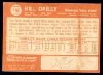 1964 Topps #156  Bill Dailey  Back Thumbnail
