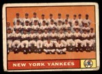 1961 Topps #228   Yankees Team Front Thumbnail