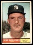 1961 Topps #104  John Blanchard  Front Thumbnail