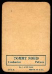 1970 Topps Glossy #1  Tommy Nobis  Back Thumbnail