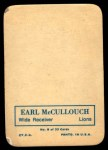1970 Topps Glossy Inserts #8  Earl McCullouch  Back Thumbnail