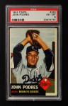 1953 Topps #263  Johnny Podres  Front Thumbnail