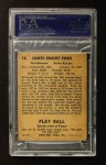 1941 Play Ball #13  Jimmie Foxx  Back Thumbnail