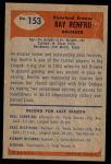 1955 Bowman #153  Ray Renfro  Back Thumbnail