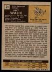 1971 Topps #23  Billy Walik  Back Thumbnail