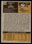 1971 Topps #258  Gus Otto  Back Thumbnail