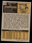 1971 Topps #181  Les Josephson  Back Thumbnail