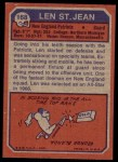 1973 Topps #168  Len St. Jean  Back Thumbnail