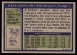 1972 Topps #192  Gary Garrison  Back Thumbnail