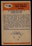 1955 Bowman #48  Dick Moegle  Back Thumbnail