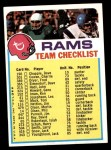 1973 Topps  Checklist   Rams Front Thumbnail