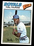 1977 Topps #340  Hal McRae  Front Thumbnail