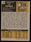 1971 Topps #170  Jim Nance  Back Thumbnail