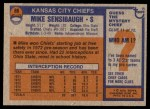 1976 Topps #86  Mike Sensibaugh  Back Thumbnail