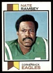 1973 Topps #482  Nate Ramsey  Front Thumbnail
