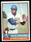 1976 Topps #76  Willie Crawford  Front Thumbnail