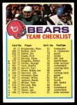 1973 Topps  Checklist   Bears Front Thumbnail