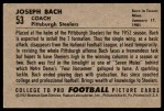 1952 Bowman Large #53  Joseph Back  Back Thumbnail