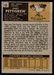 1971 Topps #63  Gary Pettigrew  Back Thumbnail