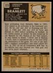 1971 Topps #223  John Bramlett  Back Thumbnail
