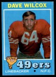 1971 Topps #189  Dave Wilcox  Front Thumbnail