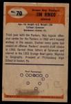 1955 Bowman #70  Jim Ringo  Back Thumbnail
