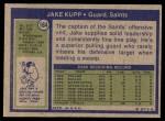 1972 Topps #164  Jake Kupp  Back Thumbnail