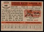 1956 Topps #49  Eddie LeBaron  Back Thumbnail