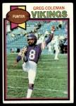 1979 Topps #343  Greg Coleman  Front Thumbnail
