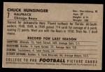 1952 Bowman Large #7  Chuck Hunsinger  Back Thumbnail