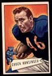 1952 Bowman Large #7  Chuck Hunsinger  Front Thumbnail