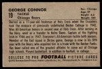 1952 Bowman Large #19  George Connor  Back Thumbnail
