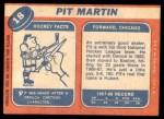 1968 Topps #18  Pit Martin  Back Thumbnail