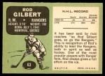 1970 Topps #63  Rod Gilbert  Back Thumbnail