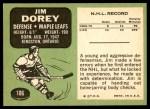 1970 Topps #106  Jim Dorey  Back Thumbnail