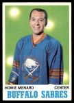 1970 Topps #124  Howie Menard  Front Thumbnail