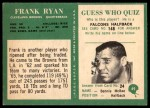 1966 Philadelphia #49  Frank Ryan  Back Thumbnail
