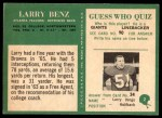 1966 Philadelphia #2  Larry Benz  Back Thumbnail