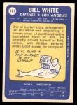 1969 Topps #101  Bill White  Back Thumbnail