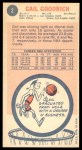 1969 Topps #2  Gail Goodrich  Back Thumbnail