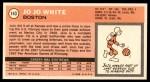 1970 Topps #143  Jo Jo White   Back Thumbnail