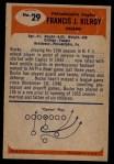 1955 Bowman #29  Francis Kilroy  Back Thumbnail