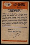 1955 Bowman #24  Ray Wietecha  Back Thumbnail