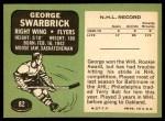 1970 Topps #82  George Swarbrick  Back Thumbnail