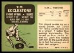 1970 Topps #102  Tim Ecclestone  Back Thumbnail