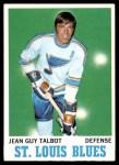 1970 Topps #100  Jean Guy Talbot  Front Thumbnail