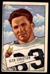 1952 Bowman Large #54  Glen Christian  Front Thumbnail